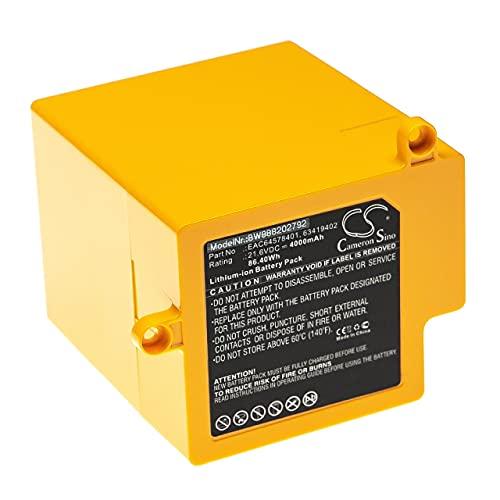 vhbw Batería Recargable Compatible con LG CordZero R9, R9MASTER aspiradora, Robot Limpieza (4000 mAh, 21,6 V, Li-Ion)