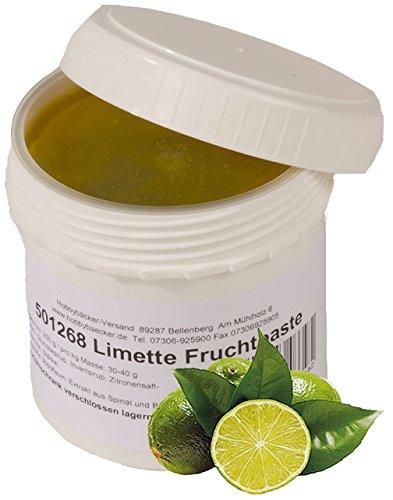 Hobbybäcker Limetten-Fruchtpaste ► Zum Verfeinern von Eis, Pralinen, Desserts & Tortencremes, Säuerliche Aromapaste, 250g