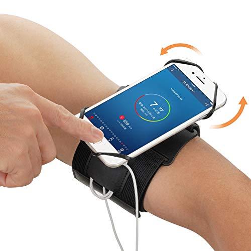 Amtake - Brazalete deportivo para smartphones de 4,0-6,5 pulgadas, giratorio 360°, funda para móvil deportiva, color negro
