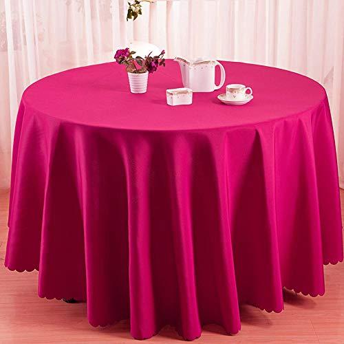 Kuingbhn Mantel Mesa Rectangular Decorativo Resistente Al Desgaste y Duradero Antimanchas Manteles Cocina Diámetro del Círculo Rosa de 240cm