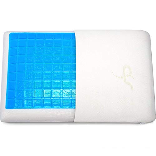 Supportiback® Almohada terapéutica de cama con gel disipador de calor. Reversible, funda...