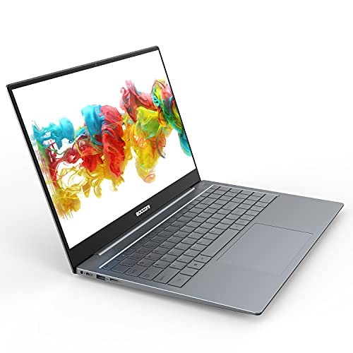 """BOCCONI 15.6"""" Windows 10 Laptop Full HD 1920x1080 IPS Display Traditional Laptops Intel N3450 6GB RAM 128GB SSD Ultra-Thin Laptop Notebook Gaming Computers for Working School Students Office Business"""