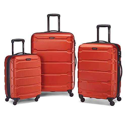 Samsonite Omni PC Hardside Expandable Luggage with Spinner Wheels, Burnt Orange, 3-Piece Set (20/24/28)