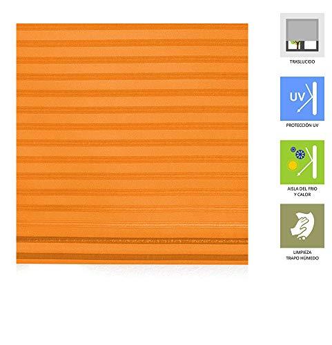 Estoralis Madras Estor Enrollable, Naranja, 150 x 175 cm
