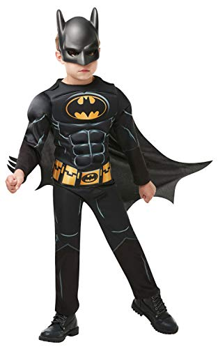 Rubie's 3300002 Black Core Batman Deluxe - Child Kostüm, schwarz, L