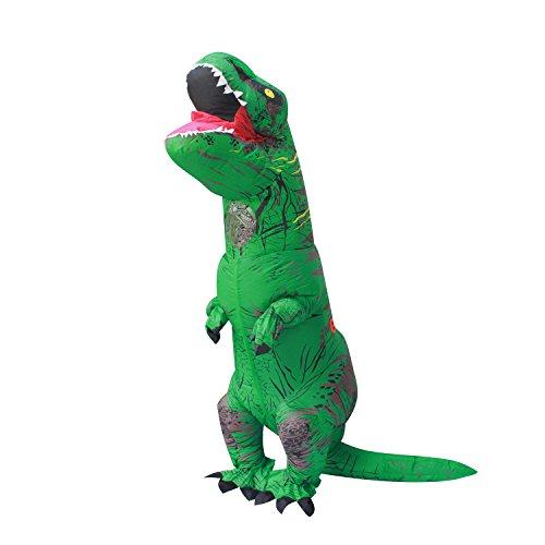 PARAYOYO T Rex Disfraz Dinosaurio Inflable Adulto T-Rex Trex Disfraces para Halloween Verde