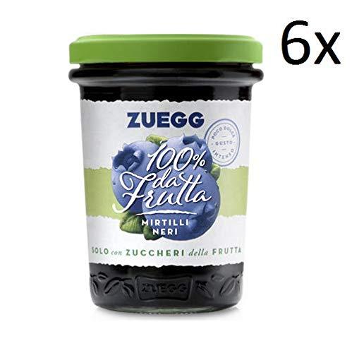 6x Zuegg Mirtilli Marmelade Blaubeeren Konfitüre 100% Frucht Italien 250g