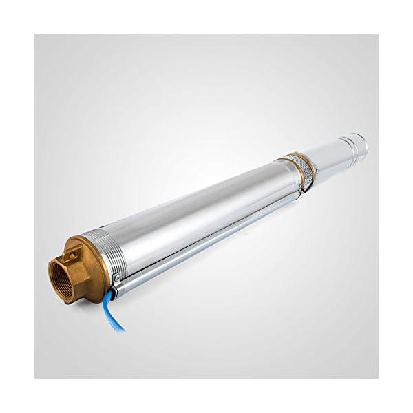 Moracle Bomba de Pozo Profundo 800W Bomba Sumergible Control Automático del Interruptor de Flujo Presión de Control…