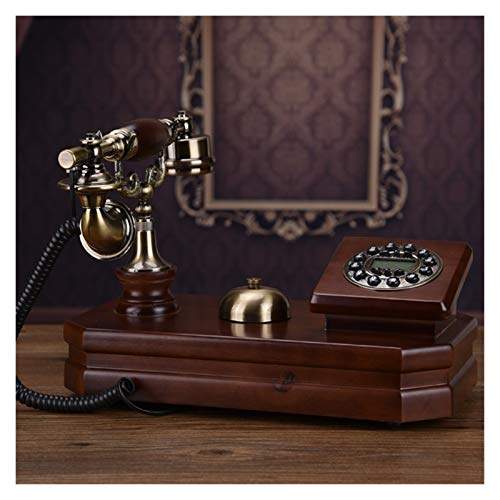 WSZMD Teléfono Pared Retro Teléfono De Escritorio Vintage Un Solo Teléfono Fijo con Números De Botón, Identificador De Llamadas, Decoración para El Hogar Retro Teléfono (Color : Plastic Cord)