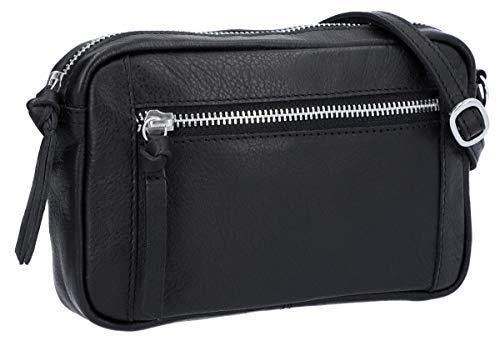 Gusti Dominic - Bolso bandolera (piel, estilo vintage), color negro
