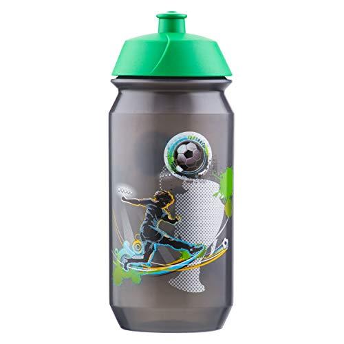 baagl Schule Trinkflasche für Jungen - Kinder Wasserflasche für Unterwegs - BPA frei, 500 ml - Fußball