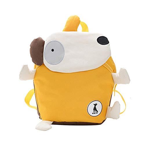 Baby Cartoon Cute Kindergarten Mini Small Bookbag Mini Backpacks for Girls Polyester Children Small Bag Pack-Yellow