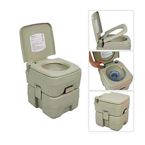 Palm Springs 5.3 Gallon Plastic Portable Flushing Toilet V2 - Camping & Outdoor Potty