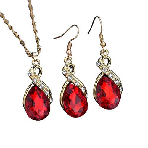 YuoungYuan Collar Mujer Collar para Novia Collar de Cristal Creativo Collar Collar romántico Collar para Regalo Collar para Mujer Collar para mamá Red