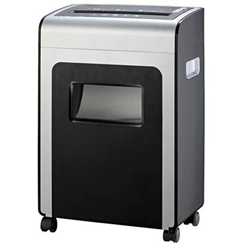 FEE-ZC Aktenvernichter 6-Blatt A4 Gdpr-Konform Schwerer Querschnitt Home   Office - Hochleistungs-Kreditkarten-Cd - Großer 10-Liter-Abfallsammelbehälter, Black