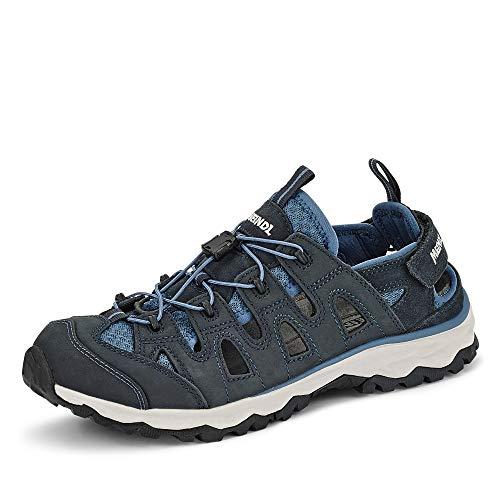 Meindl 4617 29 Lipari Lady Comfort Fit Damen Sandale aus Lederimitat mit Mesh, Groesse 36, dunkelblau/hellblau