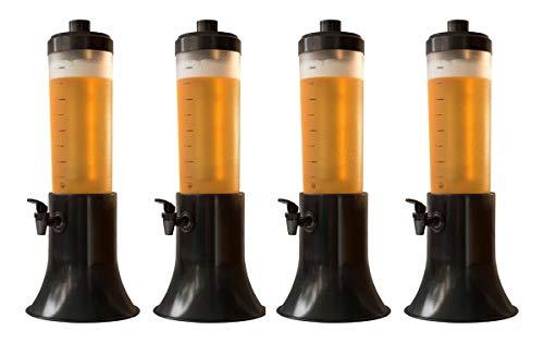 Kit Com 4 Torres Chopp Doutor Beer 2,5l Com 2 Refil Cada