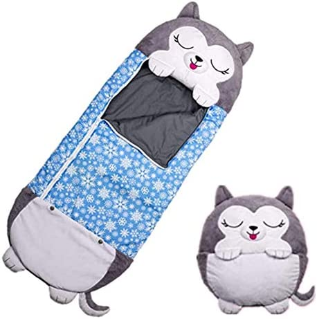 Kids Sleepy Sack, Play Pillow Nappers Portable and Foldable Sleeping Bag with Pillow, Hooded Wearable Snuggle Tail Blanket, Super Soft, Warm for Toddler Children Teens Boys Girls, All Season