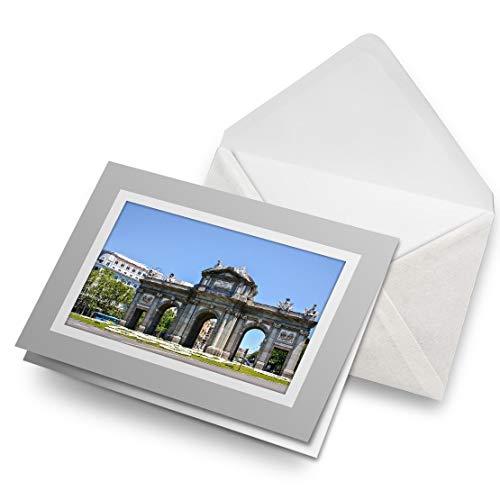 Impresionante tarjetas de felicitación gris (inserto) – Arco del Triunfo Madrid España tarjeta de felicitación en blanco para cumpleaños de niños y niñas #21145