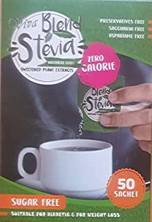 فيفا ستيفيا بلند محل طبيعي بديل للسكر لفقد الوزن وأنظمة الكيتو - 50 كيس