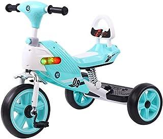 دراجة ثلاثية العجلات للأطفال من يانشو للأطفال من سن 1-6 سنوات من الأولاد والبنات مع دواسة مانعة للانزلاق ومقاعد وسلة خلفية...