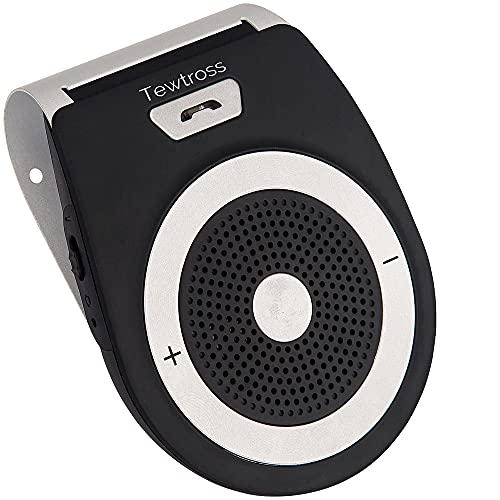 Tewtross Bluetooth HandsFree Speaker Speakerphone Calling Audio Receiver for Car Home Calls with Motion Sensor Power On