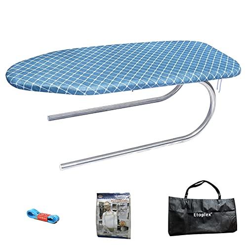 ETOPLEX Tisch-Bügelbrett, 71x29,5cm Mini-Brett mit kompaktem Design, perfekt für Schlafsäle und kleine Räume - Stylisches Klapp-Bügelbrett mit Baumwollbezug (Blue)