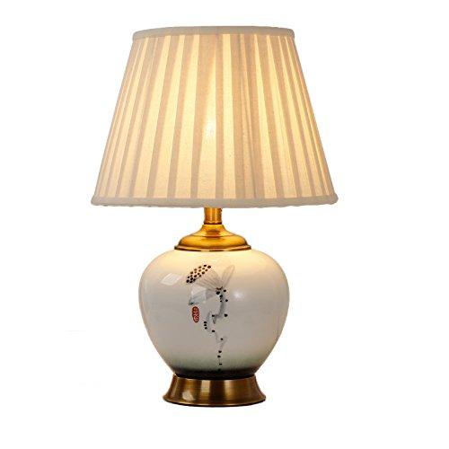 ZWL Lampe de décoration, maison Lampe de céramique moderne Lampe de nuit à la pièce Peinture à la main Villa Salon Éclairage Lampes ornements E27 Éclairage fashion.z (taille : 35 * 54CM)