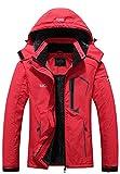 Pooluly Women's Ski Jacket Warm Winter Waterproof...