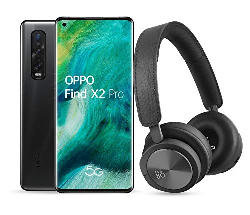 "OPPO Find X2 PRO 5G – Smartphone de 6.7"" (OLED, 12GB/512GB, Octa-core, alcoba anterior 48MP+48MP+13MP, alcoba frontal 32MP, 4.260 mAh, Android-OS 10, Snapdragon 865) Negro + Auriculares Bang&Olufsen H8i"