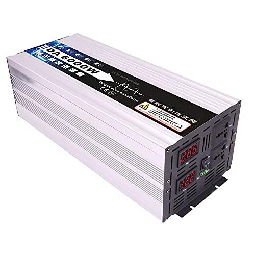 SATSAT Inversor De Onda Sinusoidal Pura, Pico 4000 W 5000 W 6000 W CC 12 V / 24 V / 48 V / 60 V A Ca 220 V Convertidor De Voltaje, Transformador De Voltaje Inversor De EnergíA Solar,6000W-12V