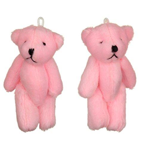 NEUF - 2 X Oursons En Peluche Rose - Petit Doux Mignonne Adorable - Cadeau Noël Anniversaire