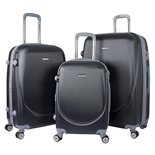 TPRC 3-teiliges Set Barnett Spinner erweiterbares Gepäck mit TSA-Schloss, schwarz (Schwarz) - PR-65103-001