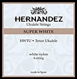Hernandez Tenor ukelele HWTU - Juego de cuerdas para ukelele tenor (4 cuerdas de nailon blanco)