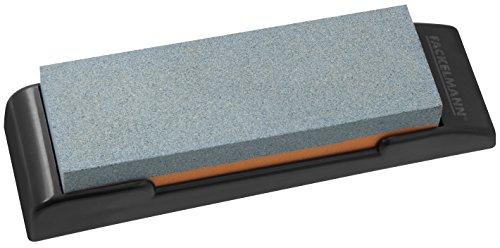 Fackelmann Pierre à aiguiser Nirosta 19x6cm en PP/Céramique, Plastique, Gris/Noir/Rouge, 19 x 6 x 4 cm