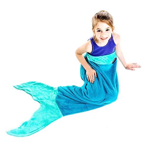 Mermaid Blanket Ocean Blue/Aqua Kids. (365900)