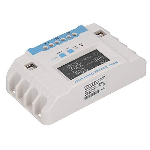 Jeanoko Controlador de Carga Solar 12V / 24V Controlador Solar doméstico 30A para Controlador