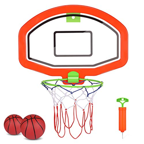 Niños Baloncesto Hoop Montado en la Pared Cesta Interior Bola para Puerta Mini Baloncesto Tablero Tablero Juego de Juguetes Deportivos para Niños