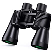 #LightningDeal 10x50 Powerful Binoculars for Adults with Low Light Night Vision, Large Eyepiece, 10 Seconds Quick Focus, Waterproof Wide Angle Compact-Binoculars-for-Adults-Bird-Watching, Hunting, Concerts