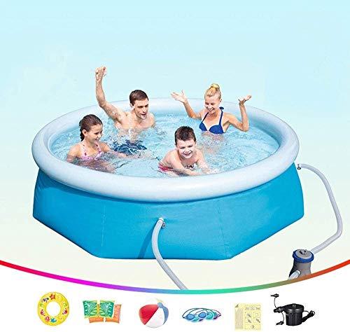 HLJ Piscinas inflables 244X66cm, los Hijos Adultos Piscina Inflable con Filtro de la Bomba, la Familia de jardín al Aire Libre de PVC Piscina for niños