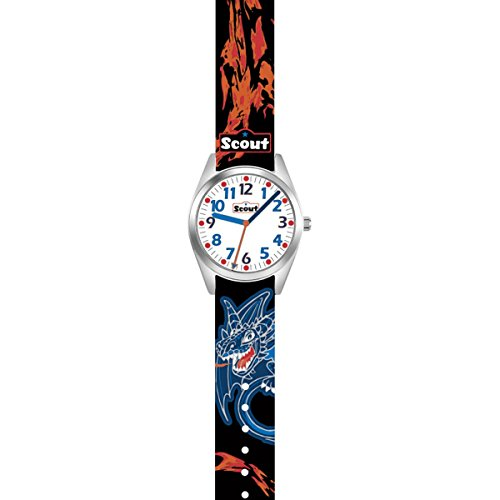 SCOUT Jungen Analog Quarz Uhr mit Stoff Armband 280309004