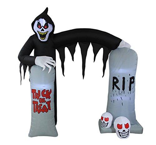 Grim Reaper Skulls Tombstone Archway