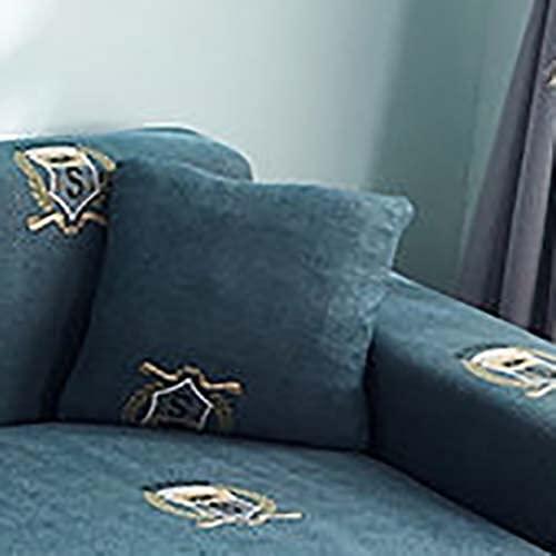 PPOS Funda de sofá Gris de Alta Elasticidad Funda de poliéster para sofás Fundas de sofá de Esquina universales ultrafinas Fundas de sofá seccionales D9 Loveseat 145-185cm-1pc