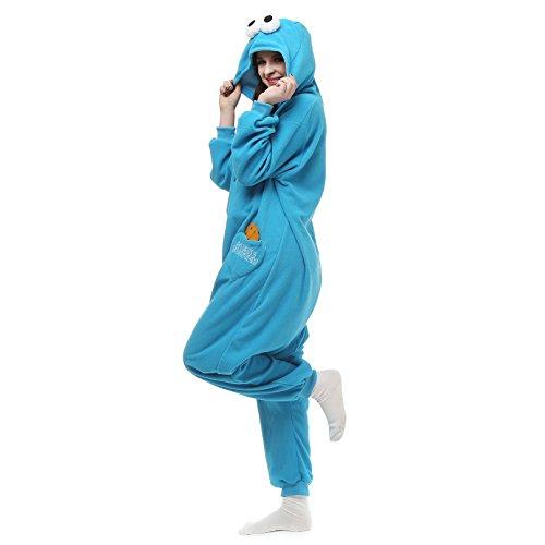 Pijamas Enteros Carnaval Cosplay Adulto Ropa de Dormir Hombre Camisones Disfraces Ropa Pijamas de Una Pieza Mujer Plaza Sésamo