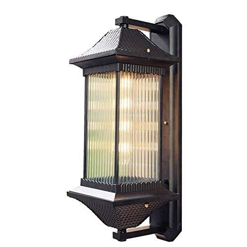 Lámpara de pared resistente Wall Industrial viento luz al aire libre, patio al aire libre impermeables, retro romántico europeo, chino impermeable ligero de la pared, Pasillo Luz Villa luz de la decor