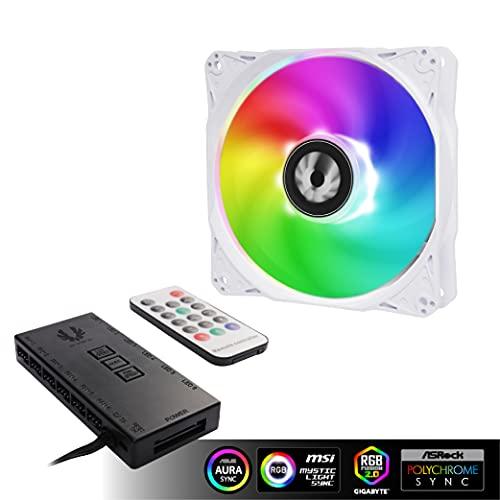 BitFenix Spectre SE ARGB LED Fan and Controller Kit White Triple Pack -...