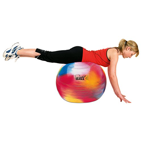 Togu Gymnastikball Powerball ABS Marble Sitzball Büroball Fitnessball 65 cm BUNT
