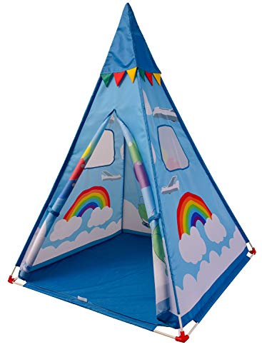 NARMAY Teepee Tent Blue Fantasia Play Tent for Kids Indoor / Outdoor...