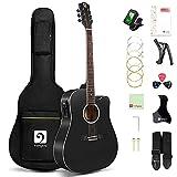 Vangoa 4/4 Guitarra Electroacústica 41 Pulgadas Cutaway Guitarras Acústicas...