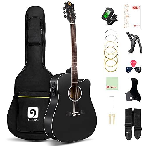 Vangoa Electric Acoustic Guitar 41 Inches 4 Band EQ Cutaway Full Size...